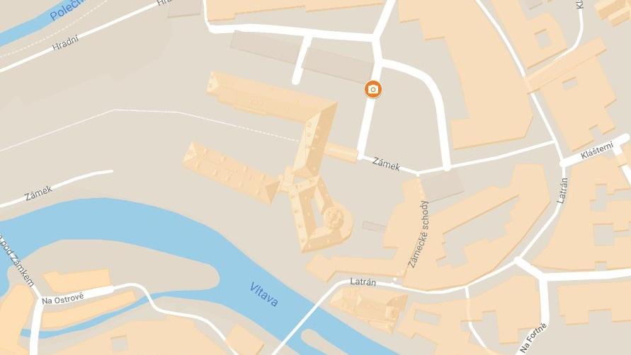 Mapa fotolokace - Krumlovská věž v zimě